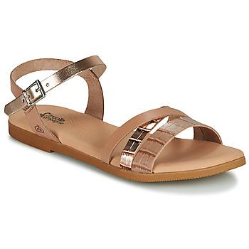 鞋子 女孩 凉鞋 Citrouille et Compagnie OBINOU 茶色 / 金色
