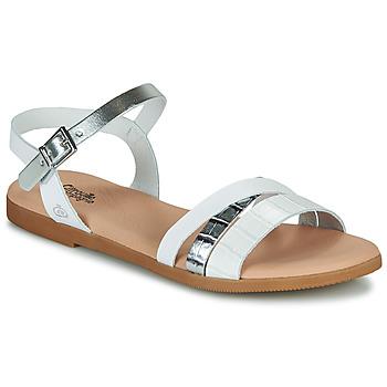 鞋子 女孩 凉鞋 Citrouille et Compagnie OBINOU 白色 / 银色