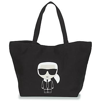 包 女士 购物袋 KARL LAGERFELD K/IKONIK KARL TOTE 黑色