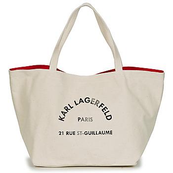 包 女士 购物袋 KARL LAGERFELD RUE ST GUILLAUE CANVAS TOTE 浅米色