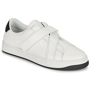 鞋子 女士 球鞋基本款 Kenzo ENZO KOURT SCRATCH SNEAKERS 白色