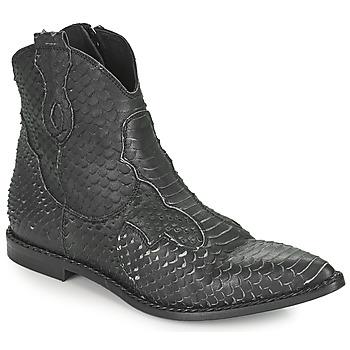 鞋子 女士 短筒靴 MIMMU PYTHON INTAG 黑色