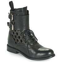 鞋子 女士 短筒靴 MIMMU MONTONE NEROB 黑色