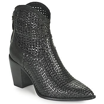 鞋子 女士 短靴 MIMMU INTRECCIO NERO 黑色