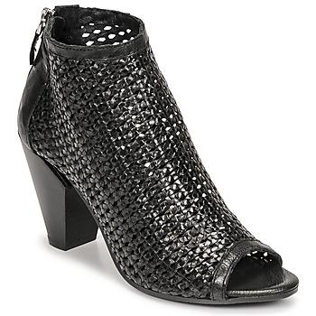鞋子 女士 短靴 MIMMU INTRECCIO-NERO-PARKER 黑色