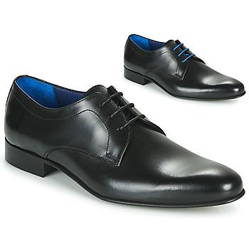 鞋子 男士 德比 Azzaro 阿莎露 CRISTAN 黑色