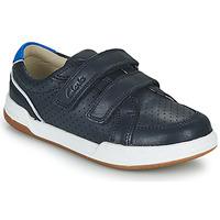 鞋子 儿童 球鞋基本款 Clarks 其乐 FAWN SOLO K 海蓝色