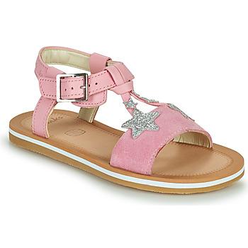 鞋子 女孩 凉鞋 Clarks 其乐 FINCH SUMMER K 玫瑰色