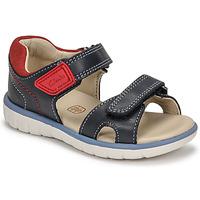 鞋子 男孩 凉鞋 Clarks 其乐 ROAM SURF K 海蓝色 / 红色