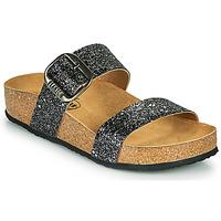 鞋子 女士 休闲凉拖/沙滩鞋 Plakton ROCK 黑色 / 浅黄色