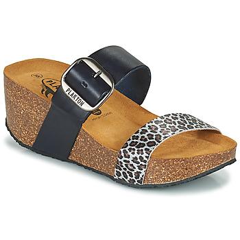 鞋子 女士 休闲凉拖/沙滩鞋 Plakton SO ROCK 蓝色 / Leopard