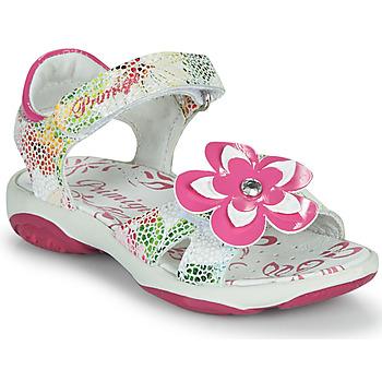 鞋子 女孩 凉鞋 Primigi SARAH 白色 / 彩色