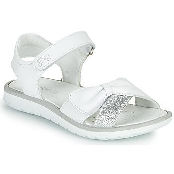 鞋子 女孩 凉鞋 Primigi LOLA 白色 / 银灰色