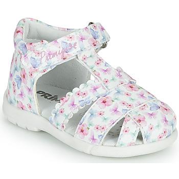 鞋子 女孩 凉鞋 Primigi NOEMIE 白色 / 多彩