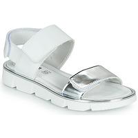 鞋子 女孩 凉鞋 Primigi ANNA 白色 / 银灰色