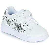 鞋子 女孩 球鞋基本款 Primigi NOLLA 白色 / 银灰色
