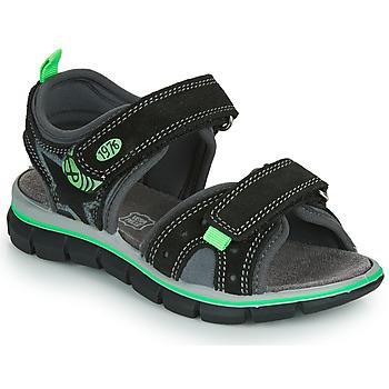 鞋子 男孩 凉鞋 Primigi NOIRA 黑色 / 绿色