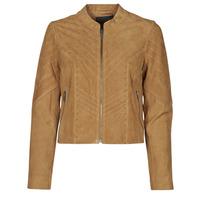 衣服 女士 皮夹克/ 人造皮革夹克 Ikks BS48075-63 浅棕色