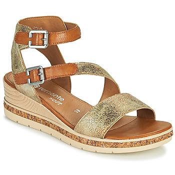 鞋子 女士 凉鞋 Remonte BALANCE 金色 / 棕色