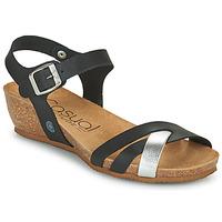 鞋子 女士 凉鞋 Casual Attitude OYA 黑色 / 银灰色