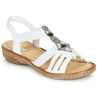 鞋子 女士 凉鞋 Rieker 瑞克尔 DOLNA 白色