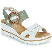 鞋子 女士 凉鞋 Rieker 瑞克尔 SOLLA 绿色 / 白色