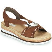 鞋子 女士 凉鞋 Rieker 瑞克尔 FARRO 棕色