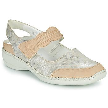 鞋子 女士 凉鞋 Rieker 瑞克尔 ALINA 银灰色