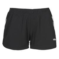 衣服 女士 短裤&百慕大短裤 adidas Performance 阿迪达斯运动训练 W D2M 3S KT SHT 黑色