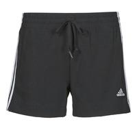 衣服 女士 短裤&百慕大短裤 adidas Performance 阿迪达斯运动训练 W 3S SJ SHO 黑色