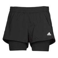 衣服 女士 短裤&百慕大短裤 adidas Performance 阿迪达斯运动训练 PACER 3S 2 IN 1 黑色