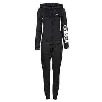 衣服 女士 厚套装 adidas Performance 阿迪达斯运动训练 W LIN FT TS 黑色