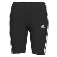 衣服 女士 紧身裤 adidas Performance 阿迪达斯运动训练 W 3S BK SHO 黑色