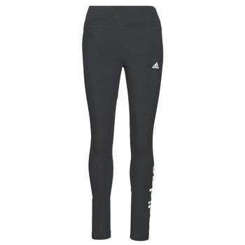 衣服 女士 紧身裤 adidas Performance 阿迪达斯运动训练 W LIN LEG 黑色