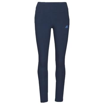 衣服 女士 紧身裤 adidas Performance 阿迪达斯运动训练 W LIN LEG 蓝色