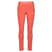 衣服 女士 紧身裤 adidas Performance 阿迪达斯运动训练 W 3S LEG 红色