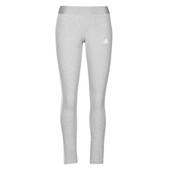 衣服 女士 紧身裤 adidas Performance 阿迪达斯运动训练 W 3S LEG 灰色