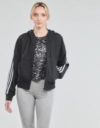 衣服 女士 运动款外套 adidas Performance 阿迪达斯运动训练 W 3S FZ HD 黑色