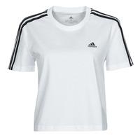 衣服 女士 短袖体恤 adidas Performance 阿迪达斯运动训练 W 3S CRO T 白色