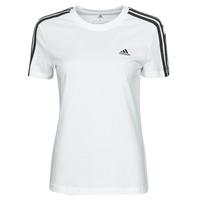 衣服 女士 短袖体恤 adidas Performance 阿迪达斯运动训练 W 3S T 白色