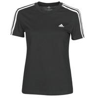 衣服 女士 短袖体恤 adidas Performance 阿迪达斯运动训练 W 3S T 黑色