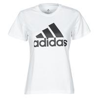 衣服 女士 短袖体恤 adidas Performance 阿迪达斯运动训练 W BL T 白色