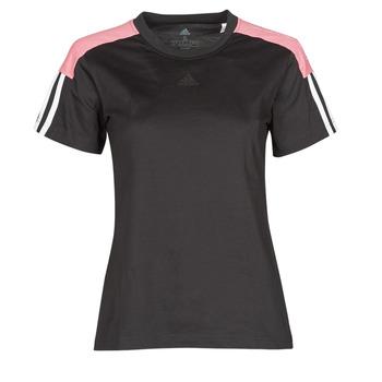 衣服 女士 短袖体恤 adidas Performance 阿迪达斯运动训练 W CB LIN T 黑色