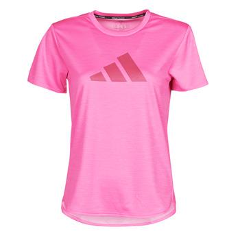 衣服 女士 短袖体恤 adidas Performance 阿迪达斯运动训练 BOS LOGO TEE 玫瑰色