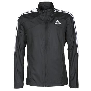 衣服 男士 运动款外套 adidas Performance 阿迪达斯运动训练 MARATHON JKT 黑色
