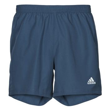 衣服 男士 短裤&百慕大短裤 adidas Performance 阿迪达斯运动训练 RUN IT SHORT 蓝色
