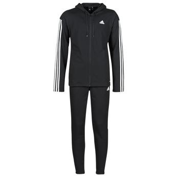 衣服 男士 厚套装 adidas Performance 阿迪达斯运动训练 M Rib Tracksuit 黑色