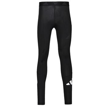 衣服 男士 紧身裤 adidas Performance 阿迪达斯运动训练 TF 3 BAR LT 黑色