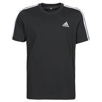 衣服 男士 短袖体恤 adidas Performance 阿迪达斯运动训练 M 3S SJ T 黑色