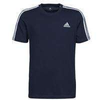 衣服 男士 短袖体恤 adidas Performance 阿迪达斯运动训练 M 3S SJ T 蓝色